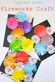 Cupcake Liner Fireworks Craft An easy and colorful activity for
