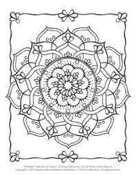 Sacred Flower Coloring Page Free Adult