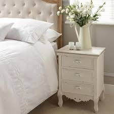 Camille White Bedside Table