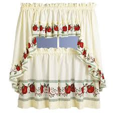 Apple Tier Walmart Kitchen Curtains For Lovely Decoration Ideas