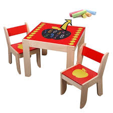 Labebe Wooden Activity Table Chair, Red Apple Toddler Table With Chalkboard  For 1-5 Years, Learning Activity Table/Baby Play Table Toy/Baby ...