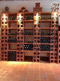 range bouteille en brique casier à vin en terre cuite cave à vin terre cuite