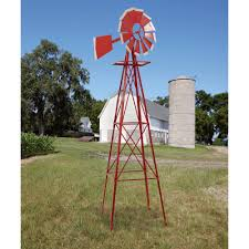 8ft. Ornamental Garden Windmill — Red And White | Www.kotulas.com ... Backyards Cozy Backyard Windmill Decorative Windmills For Sale Garden Australia Kits Your Love This 9 Charredwood Statue By Leigh Country On 25 Unique Windmill Ideas Pinterest Small Garden From Northern Tool Equipment 34 Best Images Bronze Powder Coated Windmillbyw0057 The Home Depot Pin Susan Shaw My Favorites Lower Tower And Towers Need A Maybe If Youre Building Your Own Minigolf Modern 8 Ft Free Shipping Windmillsnet