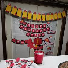 Fire Truck Banner, Fire Truck Package, Fire Truck Birthday Banner ... Fire Truck Birthday Party With Free Printables How To Nest For Less Baby Shower Decorations Engine Thank You Christmas Lights Firetruck The Town Decorated Fire Truck Fire Fighter Party Fireman Candy Wrappers Birthday Party Decorations Badges 3rd Pinterest Christmas Shop By Theme Tagged Engines Putti Firetruck Ornament Stock Image Image Of Retro 102596133 Sound Alarm Ultimate Cake Wilton This Is The That I Made For My Sons 2nd