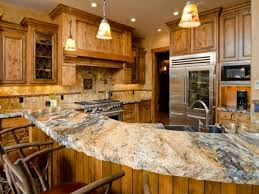 Rustic Wood Kitchen Cabinet Wit Storage And Countertop Materials Under Lighting That Have Stove Chairs