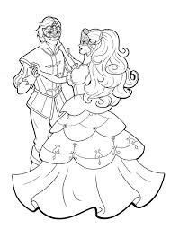 Barbie Three Musketeers Dance With The Prince Coloring Pages