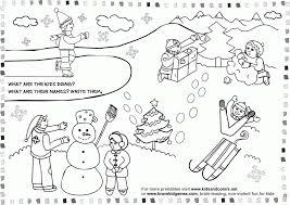 January Coloring Pages For Preschool Free Printable Winter Kids