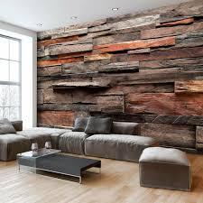 holz tapete wohnzimmer design wohnzimmermöbel ideen