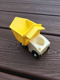 100 Little People Dump Truck Vintage FisherPrice Yellow Triangle Etsy