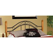 Spindle Headboard And Footboard by Amazon Com Hillsdale Winsloh Spindle Headboard In Black And Oak