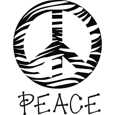 Peace Sign Coloring Pages Zebra