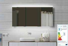 spiegelschrank 140 cm led 3 türig aus alu masse 140x70x12