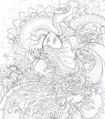 Printable Koi Fish Coloring Pages
