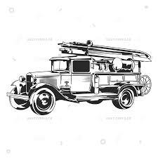 Download Vintage Fire Truck Vector Clipart Fire Engine Truck | Truck ...