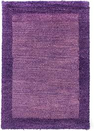 morgenland handgeknüpft lila teppich minimal muster