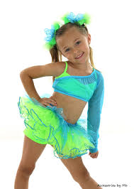 glitzy hair bow turquoise blue neon green clip girls toddler