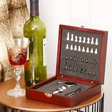 Wine Kitchen Decor Sets by Personalised Wine Accessories Chess Set Gift For Him By Dibor