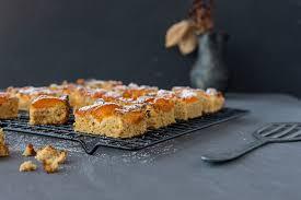 low carb blechkuchen mit marillen glutenfrei