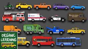 Learning Street Vehicles Names And Sounds For Kids - Learn Cars ...