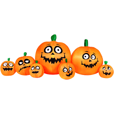 Walmart Halloween Blow Up Decorations by 8 5 U0027 Inflatable Light Up Pumpkin Patch Halloween Decoration