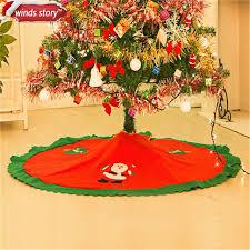 1 Pieces 90Cm Christmas Tree Skirt Base Cover Decor Blanket Cloth Paste Santa Claus Pattern Xmas
