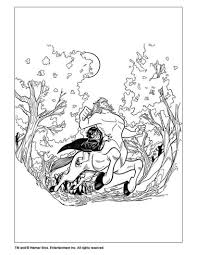 Ron Weasley Harry Potter With Centaur Coloring Page