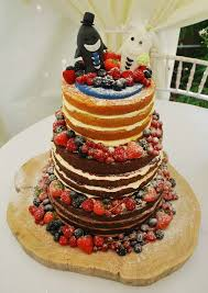 A Trio Of Naked Wedding Cakes