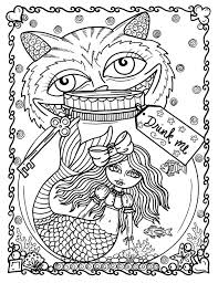 ALICE In Waterland Coloring Book Adult Wonderland Art Color Pages Fantasy