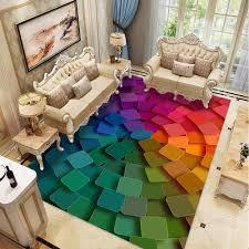 wohnzimmer schlafzimmer kreative 3d geometrische teppich