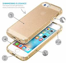 CandyShell Clear with Glitter iPhone SE iPhone 5S & iPhone 5 Cases