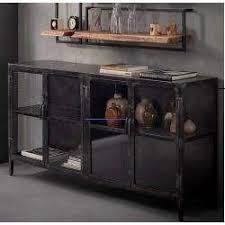 kitchenware sideboard anthrazit wohnzimmerschrank glas