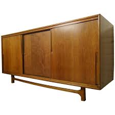 Midcentury Credenza by Cavalier with Hidden Drawers For Sale at