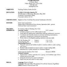 Resume Example For Pre Kindergarten Teacher Assistant Refrence Acurnamedia