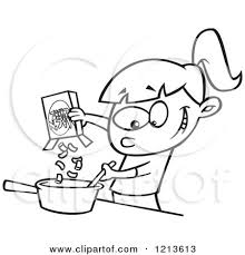 Macaroni And Cheese Coloring Page