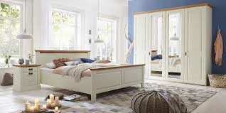 massivholz bett 200x200 53cm hoch kiefer creme wildeiche geölt luxushöhe landhausstil