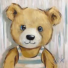 tableau ourson chambre bébé tableau nounours best de ours de nounours mignon tenant tableau