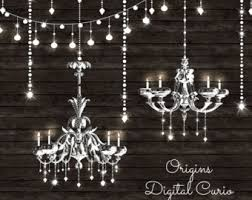 Chandeliers Clipart And String Lights