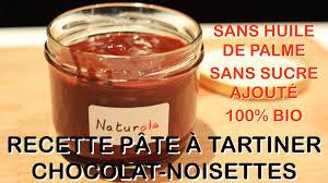 recette bio pâte à tartiner chocolat noisettes naturola vs