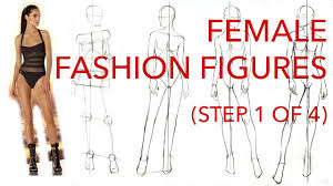 Female Fashion Figures Step 1 Of 4 Figuring Out The Pose Proportions