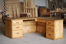 Rustic L Shaped Desk