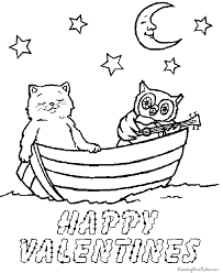 Free Valentine Coloring Sheets
