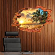 3D Effect Scenic Landscapes Illusions Wall Decal