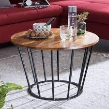 couchtisch 62 x 40 x 62 cm sheesham holz metall wohnzimmertisch industrial style echtholz tischchen wohnzimmer holztisch sofatisch metallgestell