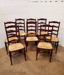 Antique Set Eight Oak Ladder Back Dining Chairs With Rush ... 6 Ladder Back Chairs In Great Boughton For 9000 Sale Birch Ladder Back Rush Seated Rocking Chair Antiques Atlas Childs Highchair Ladderback Childs Highchair Machine Age New Englands Largest Selection Of Mid20th French Country Style Seat Side By Hickory Amina Arm Weathered Oak Lot 67 Set Of Eight Lancashire Ladderback Chairs Jonathan Charles Ding Room Dark With Qj494218sctdo Walter E Smithe Fniture Design A 19th Century Walnut High Chair With A Stickley Rush Weave Cape Ann Vintage Green Painted