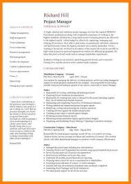 Project Management Resume Samplespic Manager Cv Example 1