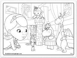 Coloring Pages Doc Mcstuffins Pdf Colouring Sheets Kids Online Color