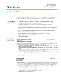 Construction Resumes Skills Functional Pictures Project Manager Resume Objective