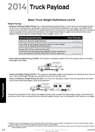 100 Truck Weights Payload Basic Weight Definitions Esourcebook