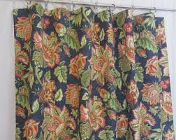 Jacobean Floral Curtain Fabric by Jacobean Floral Etsy