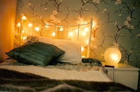 String Light Bedroom Ideas Floral Wallpaper With Ideal Lights For Amusing Teen